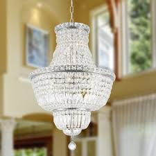 French Empire Chandelier Lighting French Empire Collection 12 Light Chrome Finish And Clear Crystal