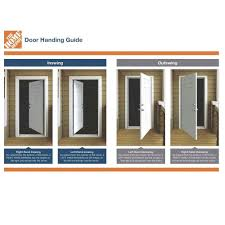 Jeld Wen Interior Doors Home Depot by Jeld Wen 36 In X 80 In 6 Panel Primed Steel Prehung Left Hand