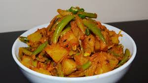 aloo ra sibi ko tarkari potato u0026 beans curry in nepali style