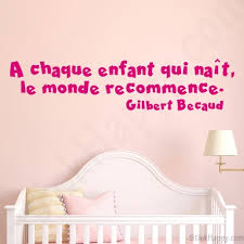 citation chambre décoration chambre de bébé stickers décalcomanie citation célébre