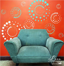 popular items for modern wall decal on etsy fun retro circles