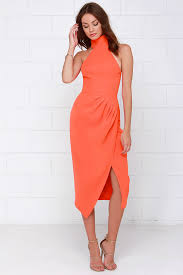 orange dress cameo land dress orange dress midi dress 185 00