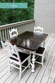kitchen table painting old wooden chairs refinishing kitchen