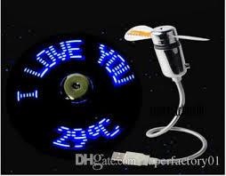 snake led light bar 2018 new usb clock fan real time temperature display fan snake led