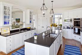 black island kitchen kitchen duo tone kitchen with marble countertops also black