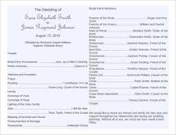 downloadable wedding program templates wedding bulletins templates free printable wedding program