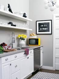 grey floating kitchen shelves design ideas