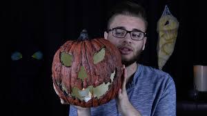 diy fake creepy jack o u0027lantern halloween prop tutorial youtube