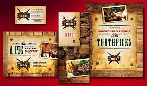create lip smackin u0027 menus postcards and flyers for a bbq