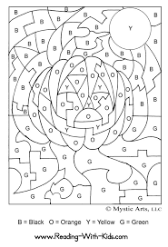 color number coloring pages