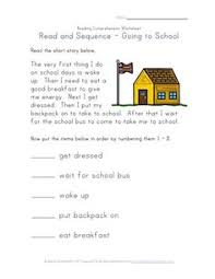 reading comprehension worksheet going to the park iteachkids