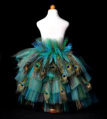 Peacock Halloween Costumes Girls Peacock Feather Bustle Tutu Halloween Costume Pageant Dance