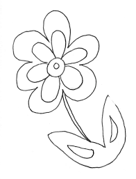 coloring pages draw easy flowers easy printable flower coloring