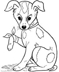 Coloring Pages Dogs Murderthestout Coloring Page Dogs