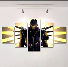 overwatch poster canvas wall art print painting soldier 76