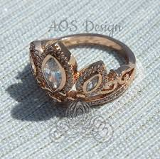 Tangled Wedding Rings by Rapunzel Rose Gold Tiara Princess Ring Tangled Crown Crystals