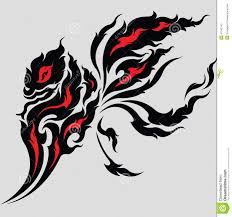 tribal dragon tattoo design stock vector image 41042146