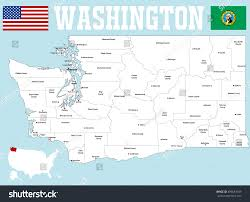 Bellingham Washington Map by Large Detailed Map State Washington All Stock Vector 499681039