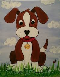 relaxing painting videos step by step puppy dog acrylic painting for children beginner