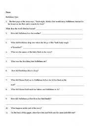 worksheet stellaluna quiz