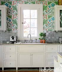 look lush william morris wallpaper in the kitchen u2014 kitchen