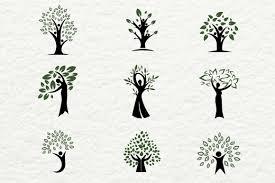 human shaped trees for logos logo templates on creative market