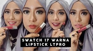 Lipstik Lt Pro Lip swatch 17 lipstick lt pro longlasting matte lipcream dan lt pro