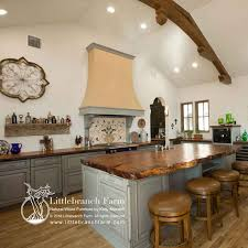 blue kitchen cabinets with wood countertops wood countertops live edge wood slabs