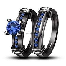 black and blue wedding rings compare prices on gold plated cz wedding engagement ring band set