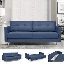 canap lit coffre canapé lit canapé scandinave design bleu 3 places convertible avec
