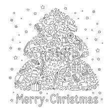 3 659 christmas coloring stock illustrations cliparts
