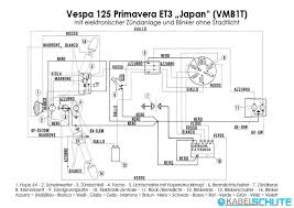 wiring harness vespa 125 primavera et3 vmb1t