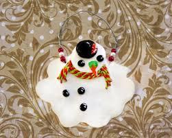 diy melting snowman hanging ornament shelterness
