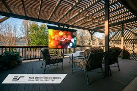 Wind Screens For Decks by Yard Master Electric Series Outdoor Projector Screens Elite