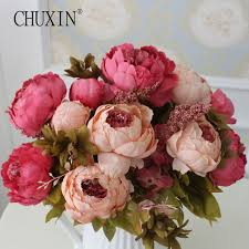 silk flower hight quality silk flower european 1 bouquet artificial flowers