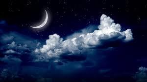 starry night sky with the moon wallpaper wallpaper studio 10