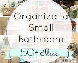 organizing a small bathroom the diary of a real housewife