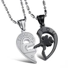 couples necklace images Heart key matching couples necklace for lovers loveluve jpg