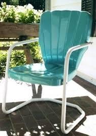 Metal Patio Chair Vintage Metal Outdoor Furniture Hollywood Thing