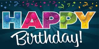 happy birthday blue starburst banner template png