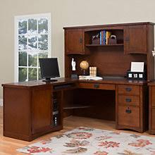 Home Computer Desks With Hutch Mission Style Home Office Desks Amish Made Oak Craftsman