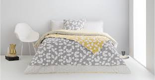 grey mustard duvet cover scandi style trio made