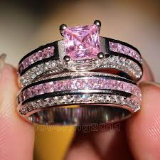 pink camo wedding rings pink camo wedding ring sets with real diamonds pink