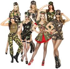 military halloween costume army ladies fancy dress military camo uniform soldier womens
