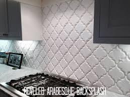 arabesque backsplash tile backsplash tile shapes mocha brown