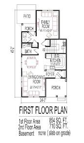 house plans narrow lot 2 bedroom house plans for narrow lots homes zone