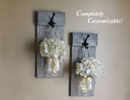 Farmhouse Wall Sconce Distressed Wall Sconce Set Mason Jar Wall Sconces Rustic
