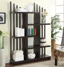 unique white wall shelves room divider and partition design idea
