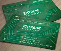 electronic cards designs for classic sized business cards