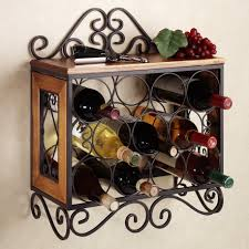 furniture lovely wall mounted wine rack with classic style feat